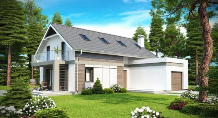 Конструкция дома с двухскатной крышей