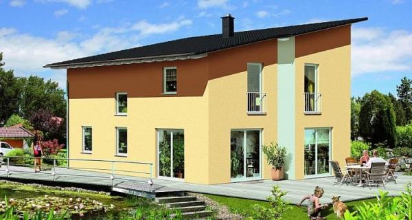 Конструкция дома с односкатной крышей