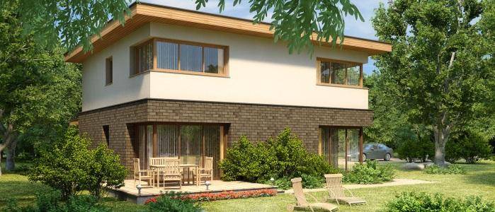 Проекты домов с плоской крыше и их устройство