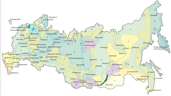 Расчет снеговой нагрузки снегом по регионам России