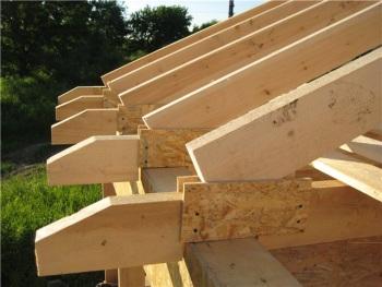 Преимущество и использование деревянных стропил