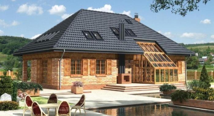 Конструкция дома с вальмовой крышей