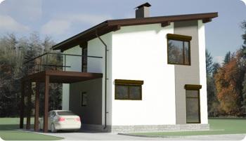 Фото дома с односкатной крышей
