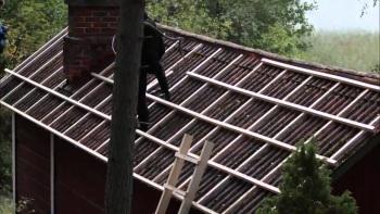 Монтаж на старую крышу покрытую шифером