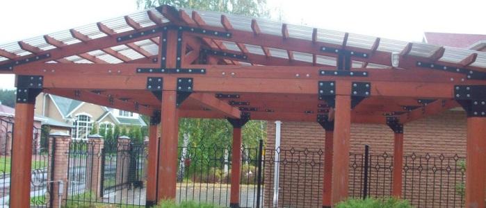 Как крепить поликарбонат к деревянному каркасу