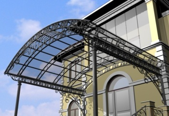 Применение прозрачного поликарбоната на козырек дома