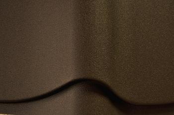 Металлочерепица покрытая матовым пуралом коричневого цвета