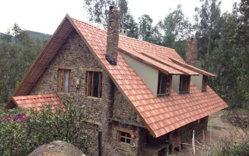 Фото крыши дома после монтажа Ондувиллы