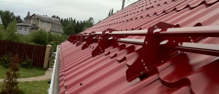 Снегозадержатели для крыши покрытой металлочерепицой