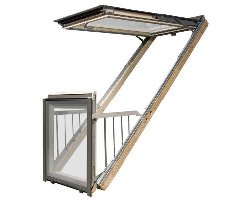 Мансардное окно-балкон от факро