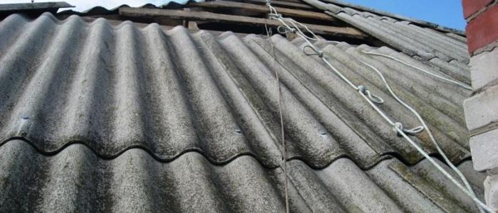 Замена старого шифера на крыше